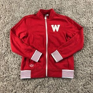 🔥Retro Wisconsin Badgers Adidas Track Jacket🔥